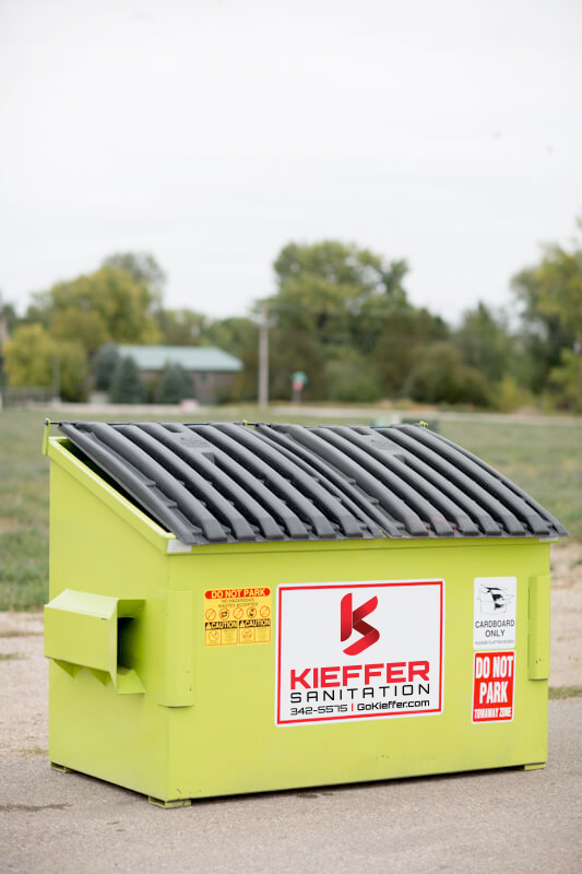 Commercial Corrugated Cardboard recycling bin.